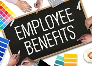 Employee Benefits chalkboard